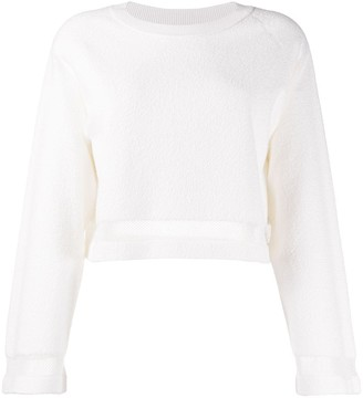 Barrie Terrycloth Cropped Pullover