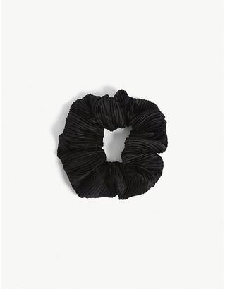 Ganni Pleated satin scrunchie