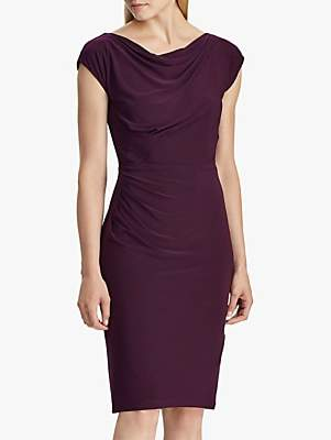 Ralph Lauren Ralph Theona Lace Sleeve Dress, Raisin