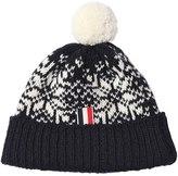 Thom Browne Snowflake Wool & Mohair Hat W/ Pompom