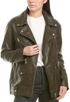 Bagatelle Oversized Leather Biker Jacket