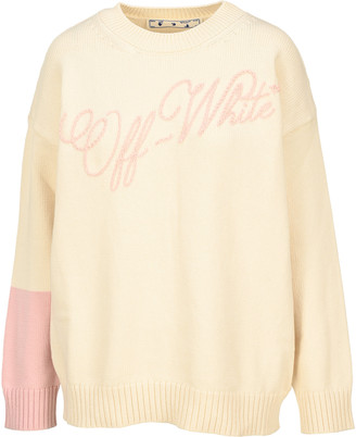 Off-White Off White Embroidered Logo Clour Block Jumper