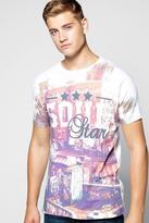 Boohoo Graffiti Print T Shirt