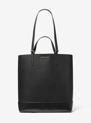 MICHAEL Michael Kors Kelli Large Two-Tone Pebbled Leather Tote Bag