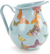 Mackenzie Childs MacKenzie-Childs - Butterfly Garden Enamel Pitcher - Sky