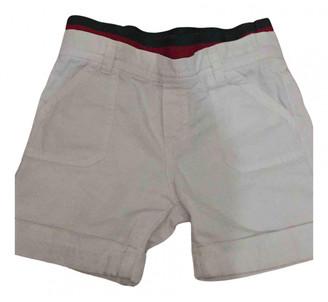 Gucci White Cotton Shorts