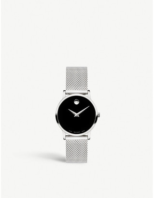 Movado Museum Classic Mesh stainless steel watch