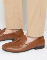 Red Tape Tassel Loafers In Tan Leather