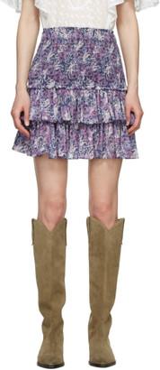 Etoile Isabel Marant Purple Naomi Miniskirt