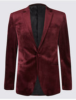 M&S Collection Tailored Fit Single Breasted Velvet Jacket
