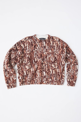 MinkPink Game On Animal Print Knit Sweater