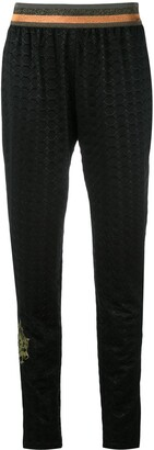 Mr & Mrs Italy Geometric Embossed Tapered Trousers