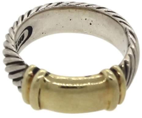 David Yurman 925 Sterling Silver 14K Yellow Gold Ring