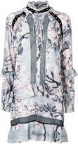 Just Cavalli floral snakeskin print dress