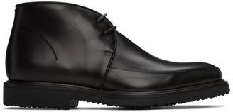 Ermenegildo Zegna Black Trivero Chukka Desert Boots