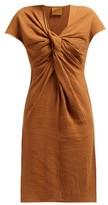 Loup Charmant Gilgo Cotton-gauze Mini Dress - Womens - Brown