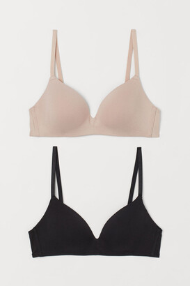 H&M 2-Pack Padded Cotton Bras