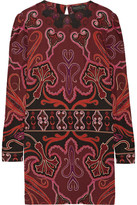 Rachel Zoe Magnus Printed Silk-jersey Mini Dress - Burgundy