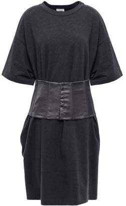 Brunello Cucinelli Belted French Cotton-blend Terry Mini Dress