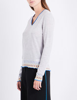 Peter Pilotto Patterned knitted wool jumper