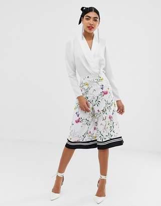 UNIQUE21 floral culotte pant-Multi