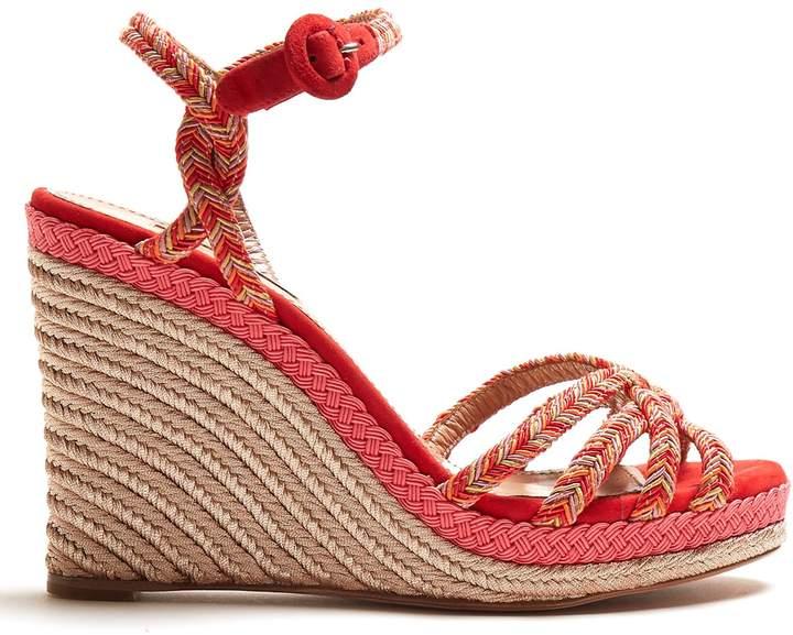 Aquazzura Kerala 100 braided-strap wedge sandals