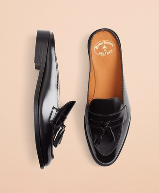 Brooks Brothers Leather Tassel Loafer Mules