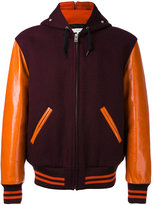 Maison Margiela Replica felt sports jacket - men - Cotton/Calf Leather/Wool - 48
