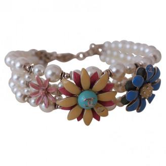 Chanel White Pearls Bracelets