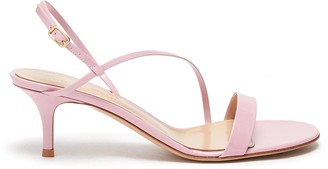 Gianvito Rossi 'Manhattan' Strappy Heeled Leather Sandals