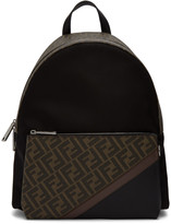 Fendi Black Forever Fabric Backpack