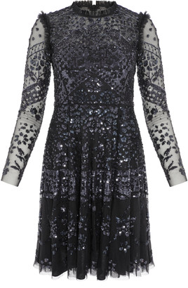 Needle & Thread Aurora Sequin-Embellished Tulle Mini Dress