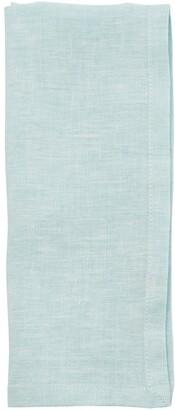 Indigo Washed Linen Napkins Dusty Blue Set of 4