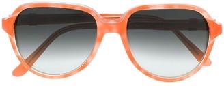 Saint Laurent Pre-Owned 1990's oversized gradient sunglasses
