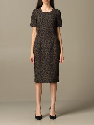 Boutique Moschino Dress Moschino Boutique Animal Print Midi Dress