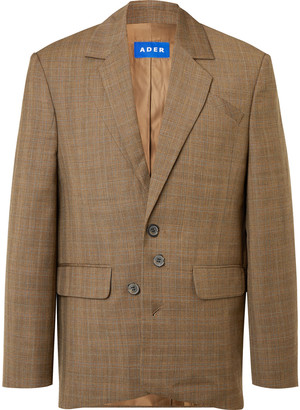 Ader Error Checked Wool Suit Jacket