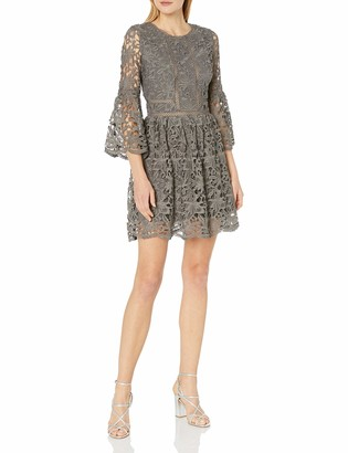 J.o.a. Women's Ruffle Sleeve Fit & Flare Dress