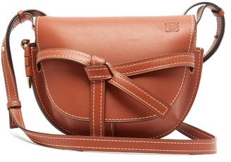 Loewe Gate Small Leather Cross-body Bag - Womens - Brown