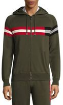 Bally Striped Hooded Sweater