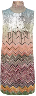 Missoni Sequined Knit Intarsia Mini Dress