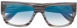 Ray-Ban Square Frame Tortoiseshell Sunglasses
