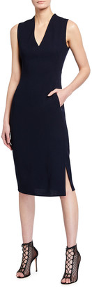 Akris Crepe Sleeveless Sheath Dress