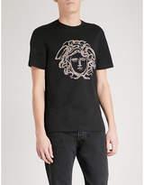 Versace Medusa Embellished Cotton-jersey T-shirt