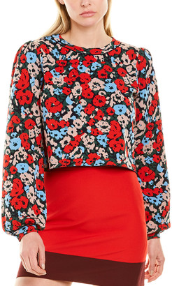 Milly Poppy Jacquard Top