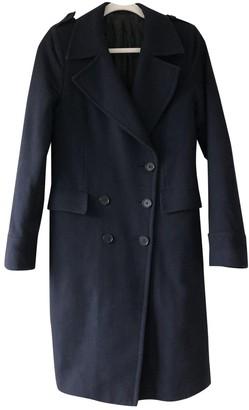 BLK DNM Navy Wool Coat for Women