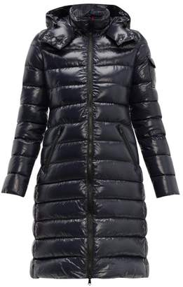 Moncler Moka Hooded Quilted Down Coat - Womens - Navy