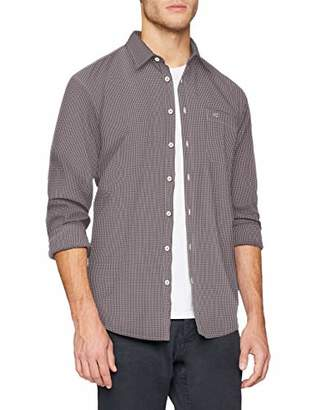 Camel Active Men's Jack Kent 1/1 Casual Shirt, (Dark red Los CORE 46), (Size: XX-Large)