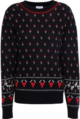 Claudie Pierlot Wool-blend Jacquard Sweater