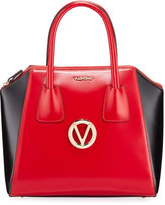 Mario Valentino Valentino By Minimi Two-Tone Leather Satchel Bag