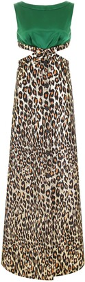 Miu Miu Leopard-Print Maxi Dress